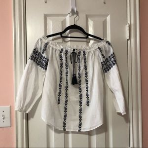 Abercrombie & Fitch Off the Shoulder Blouse NWT